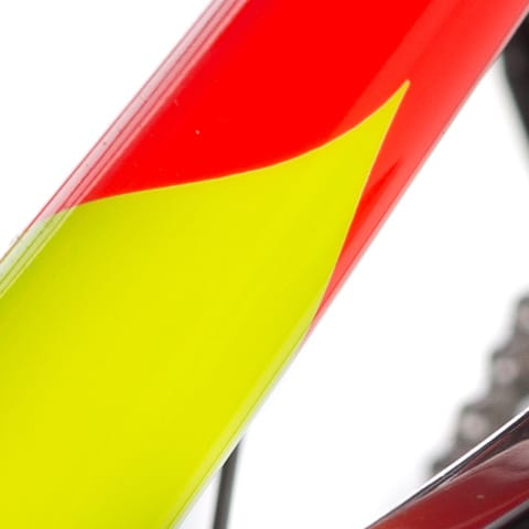 yellow and red KIRK bike