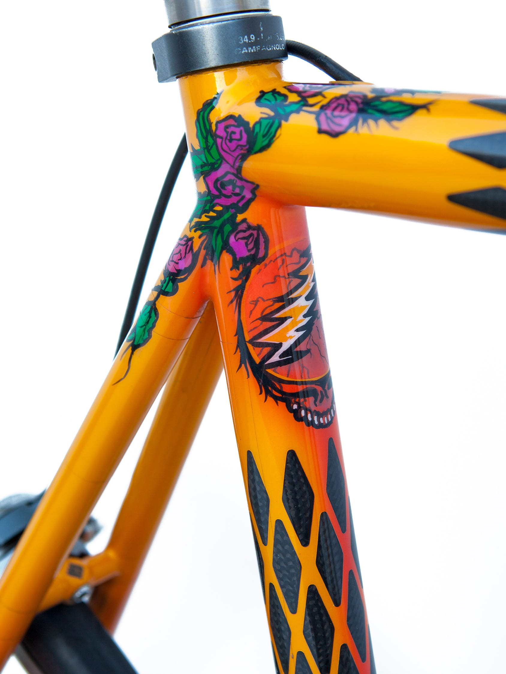 seat tube and stays detail